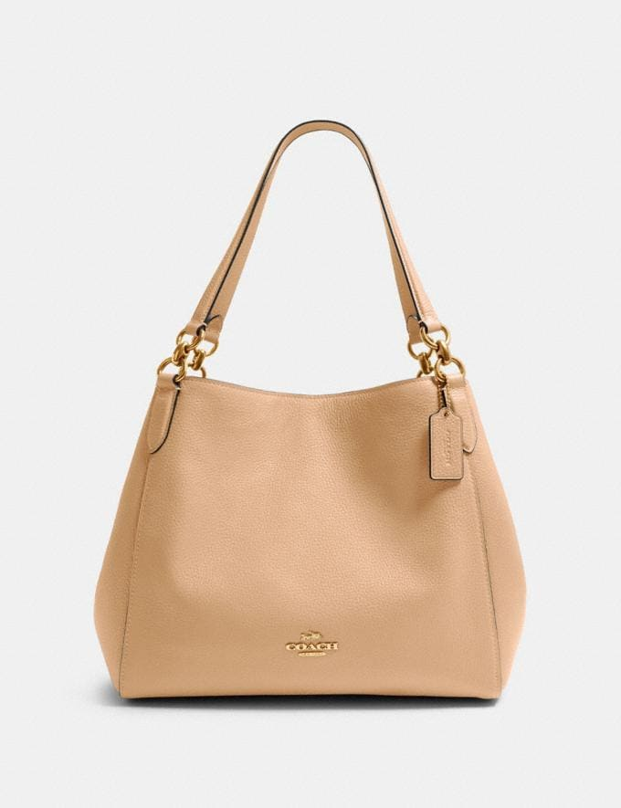 Coach Hallie Shoulder Bag Im/Taupe