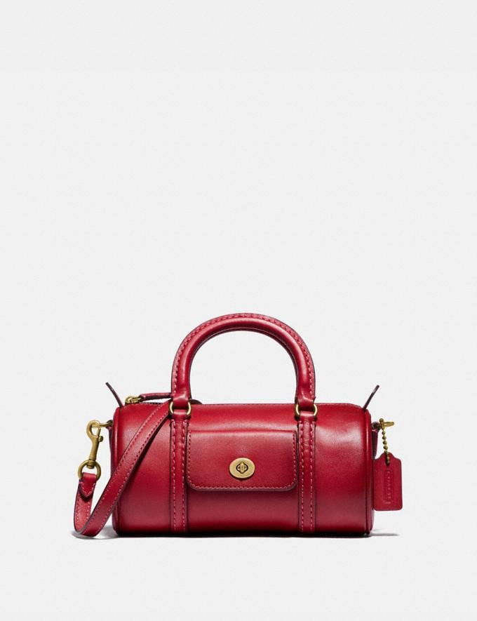 Coach Mini Barrel Bag B4/Red Apple SALE For Her Wallets & Wristlets