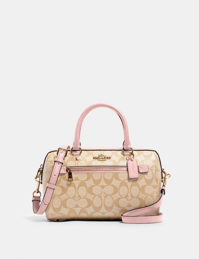 Coach Rowan Satchel in Signature Canvas Im/Light Khaki Blossom