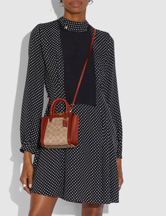 Coach Troupe Tote 16 in Signature Canvas Brass/Tan Red Apple Women Bags Satchels Alternate View 3