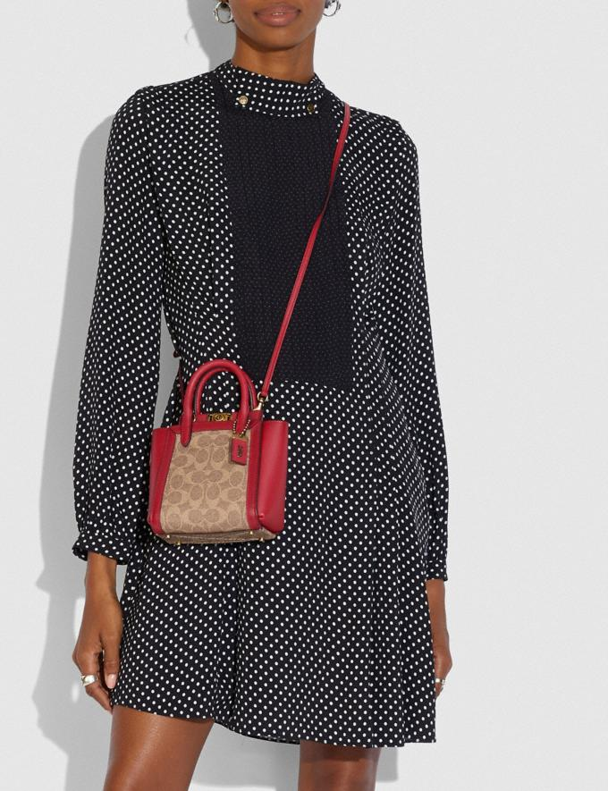 Coach Troupe Tote 16 in Signature Canvas Brass/Tan Red Apple Gifts For Her Under £500 Alternate View 3