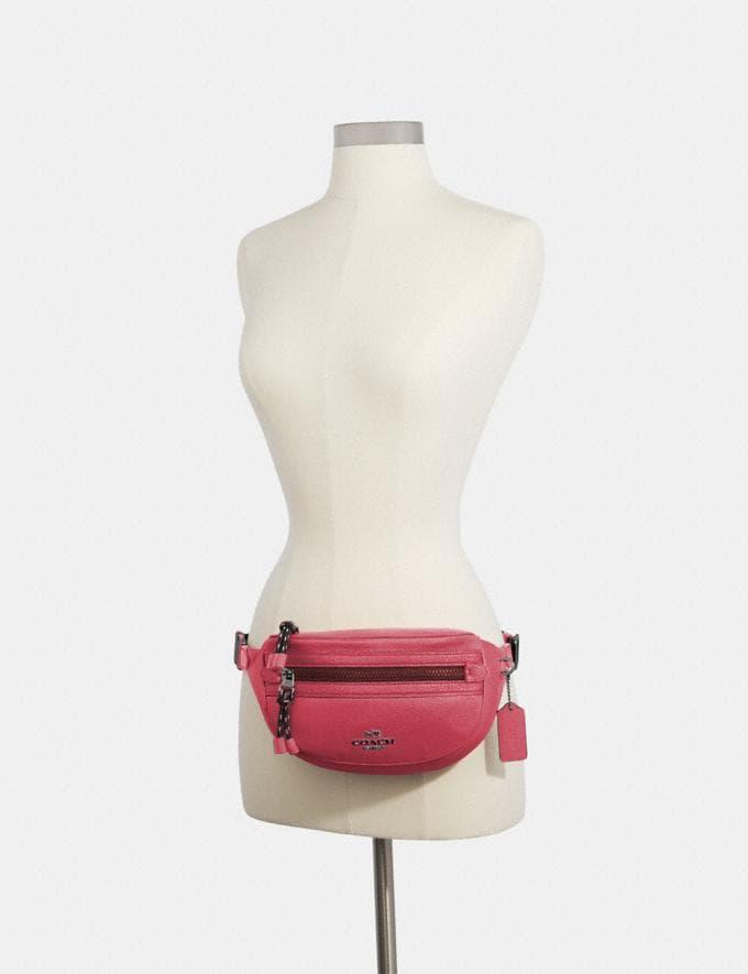Coach Vale Belt Bag Qb/Dark Pink Women Bags Alternate View 2
