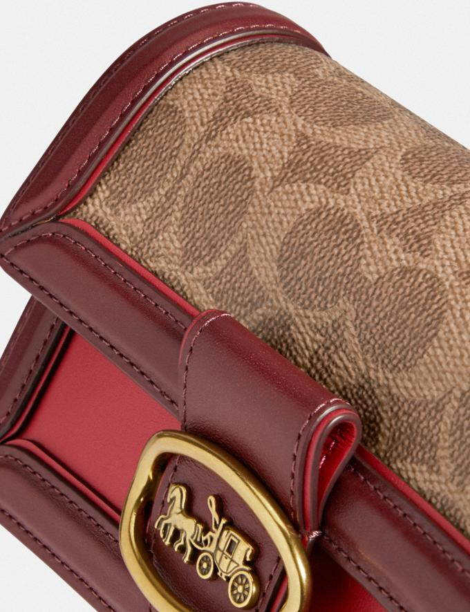 Coach Riley Convertible Belt Bag in Signature Canvas Brass/Tan Red Apple New Featured Lunar New Year Alternate View 5