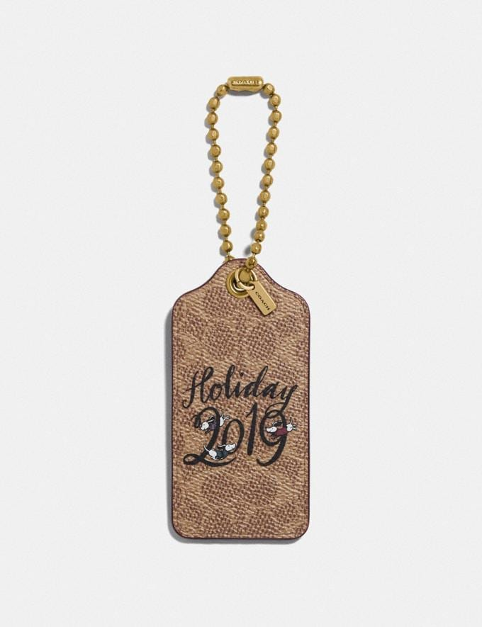 Coach Holiday 2019 Hangtag Khaki Women Accessories Bag Accessories & Keyholders