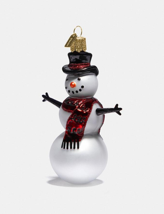 Coach Snowman Glass Ornament Chalk Multi SALE 75% OFF Employee Lifestyle View All