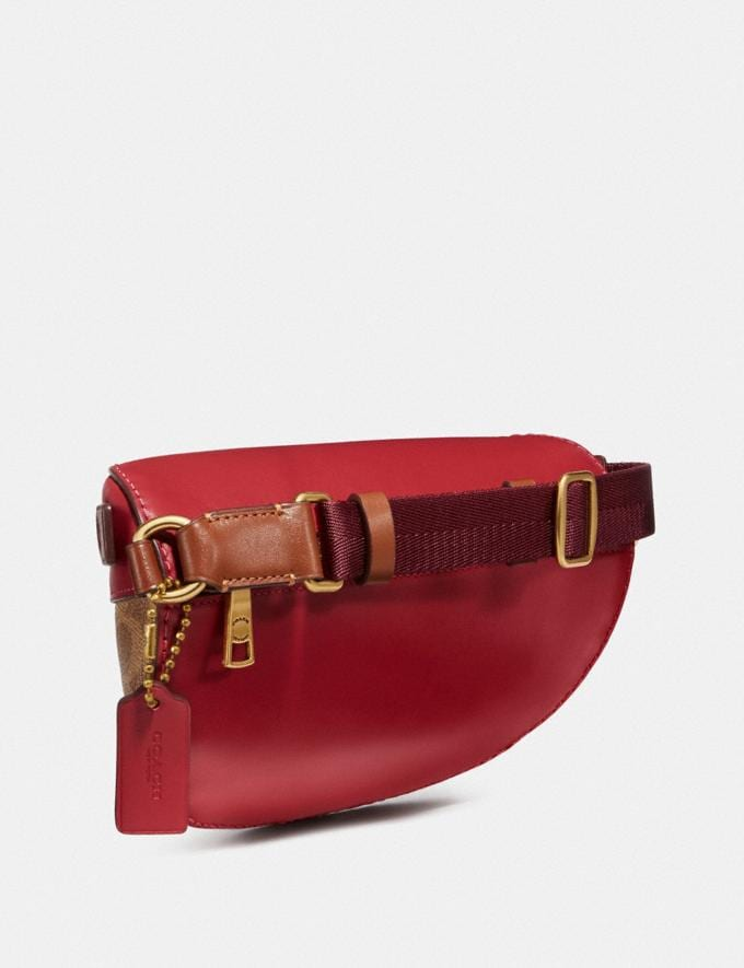 Coach Bethany Belt Bag in Colorblock Signature Canvas Brass/Tan Red Apple Multi Donna Borse Borse a cintura Visualizzazione alternativa 1