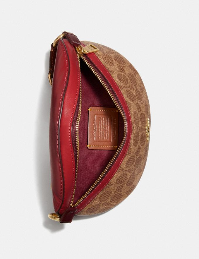 Coach Bethany Belt Bag in Colorblock Signature Canvas Brass/Tan Red Apple Multi Donna Borse Borse a cintura Visualizzazione alternativa 2