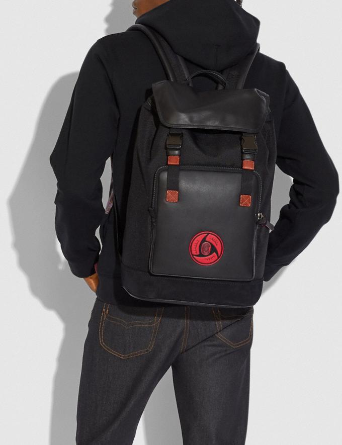 Coach Coach X Michael B. Jordan Backpack Black Copper/Black New Men's New Arrivals Collection Alternate View 3