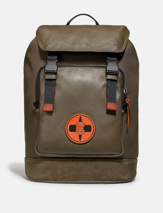 Coach Coach X Michael B. Jordan Backpack Black Copper/Ninjutsu Military Green New Men's New Arrivals