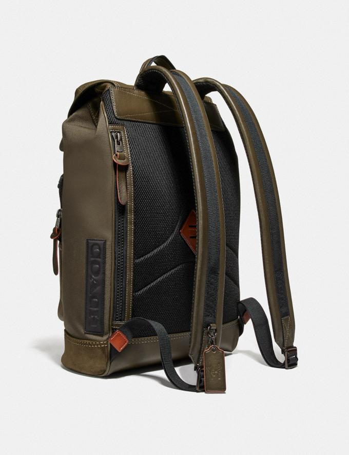 Coach Coach X Michael B. Jordan Backpack Black Copper/Ninjutsu Military Green New Men's New Arrivals Alternate View 1
