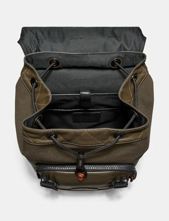 Coach Coach X Michael B. Jordan Backpack Black Copper/Ninjutsu Military Green New Men's New Arrivals Alternate View 2
