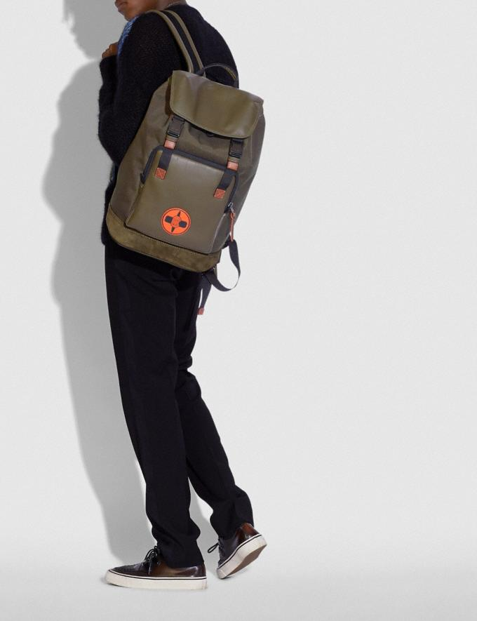 Coach Coach X Michael B. Jordan Backpack Black Copper/Ninjutsu Military Green New Men's New Arrivals Alternate View 3