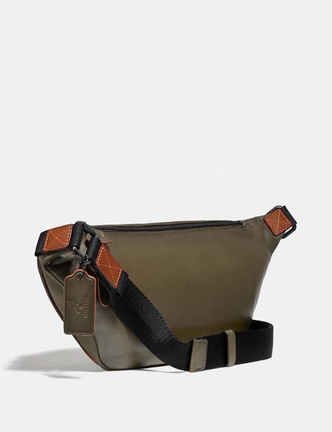 Coach Coach X Michael B. Jordan Belt Bag Black Copper/Ninjutsu Military Green New Men's New Arrivals Collection Alternate View 1