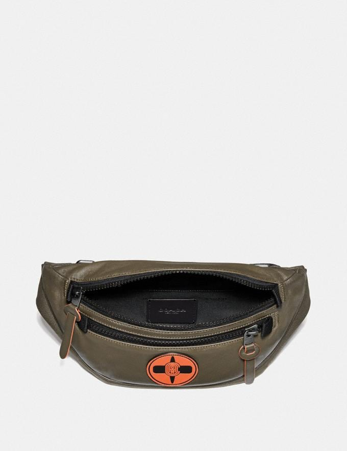 Coach Coach X Michael B. Jordan Belt Bag Black Copper/Ninjutsu Military Green New Men's New Arrivals Collection Alternate View 2