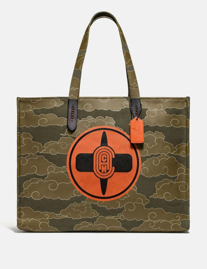 Coach Coach X Michael B. Jordan Tote 42 Black Copper/Ninjutsu Military Green New Featured Coach X Michael B. Jordan