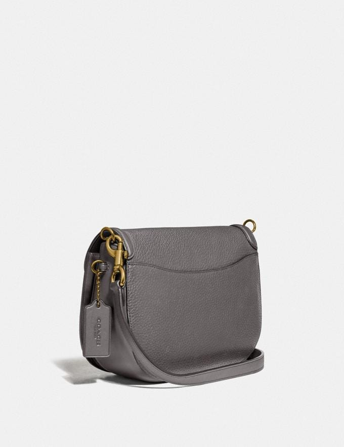 Coach Bolso Saddle Kat Gris Brezo/LatÓN Regalo Para ella Superventas Vistas alternativas 1