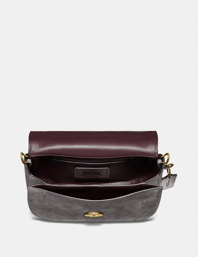 Coach Bolso Saddle Kat Gris Brezo/LatÓN Regalo Para ella Superventas Vistas alternativas 2
