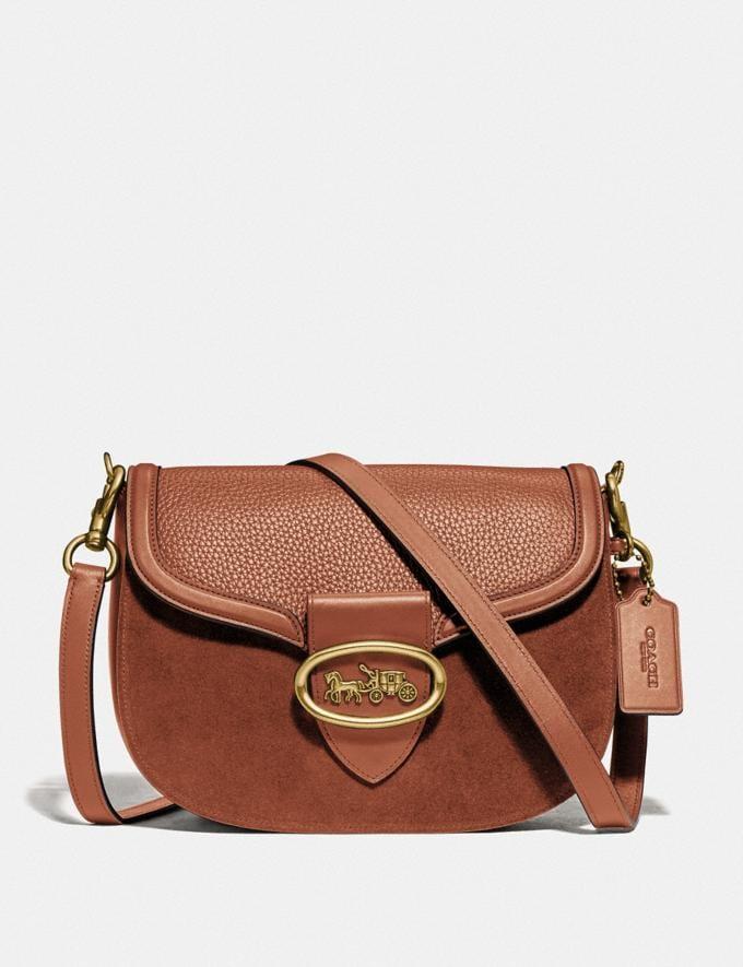 Coach Kat Saddle Bag 1941 Saddle/Brass Women Bags Crossbody Bags
