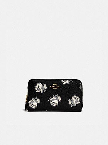 medium zip around wallet with floral print