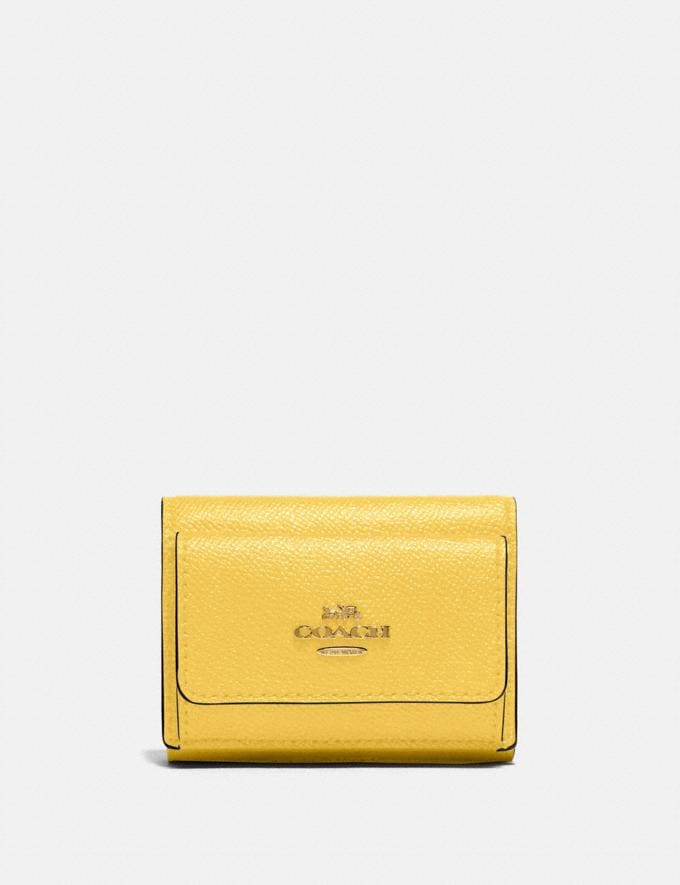 Coach Mini Trifold Wallet B4/Sunlight SALE Sale Edits New to Sale New to Sale