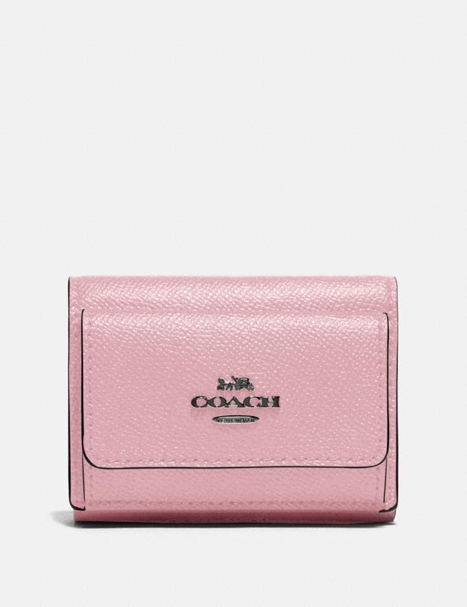Coach Mini Trifold Wallet V5/Aurora New Women's New Arrivals