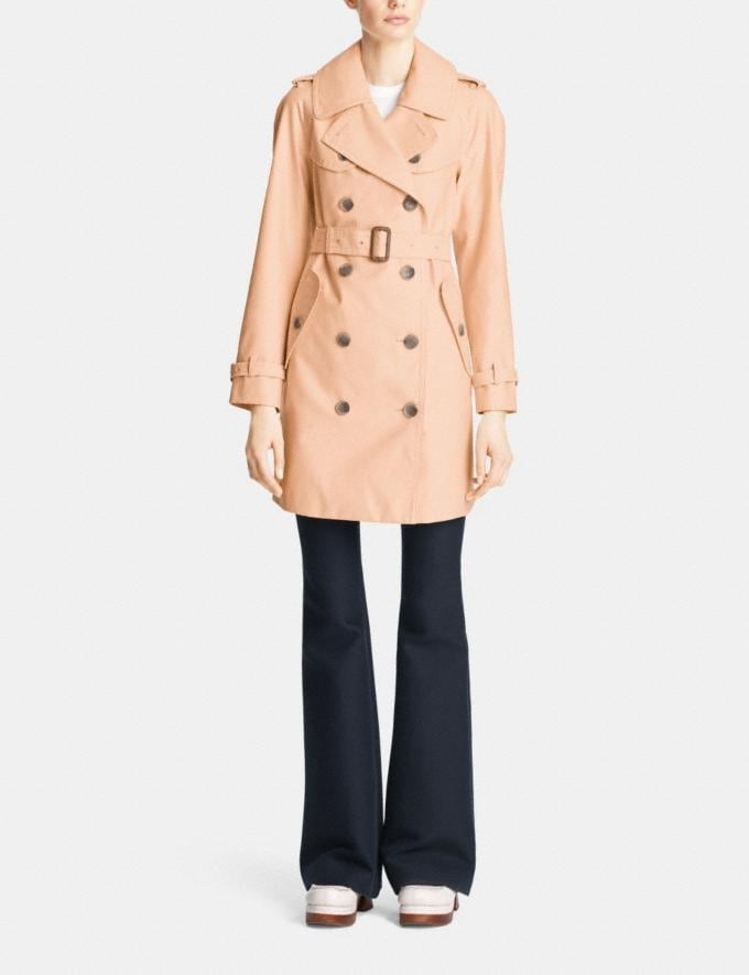 Coach Mid Length Trench Apricot SALE 30% off Select Full-Price Styles Women's Alternate View 1
