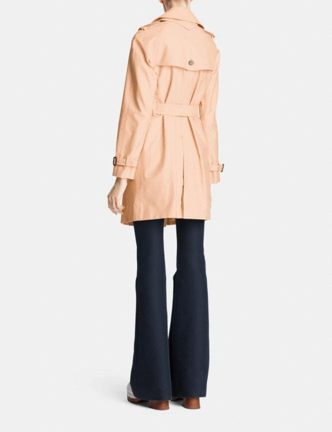 Coach Mid Length Trench Apricot SALE 30% off Select Full-Price Styles Women's Alternate View 3