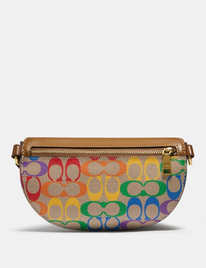 Coach Bethany Belt Bag in Rainbow Signature Canvas B4/Tan Penny Multi New Featured Coach Pride Collection Alternate View 2