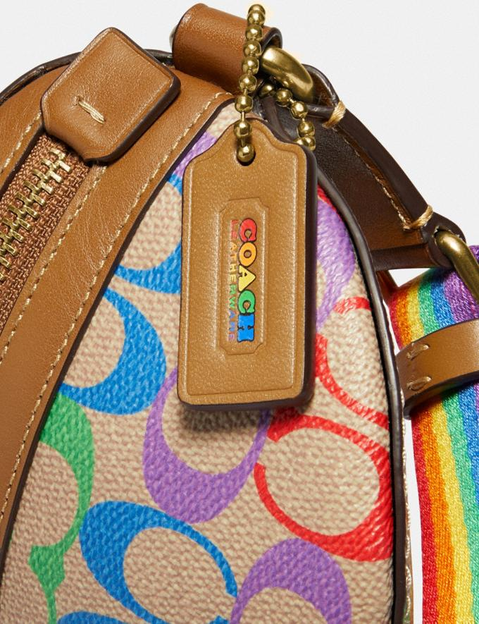 Coach Bethany Belt Bag in Rainbow Signature Canvas B4/Tan Penny Multi New Featured Coach Pride Collection Alternate View 6