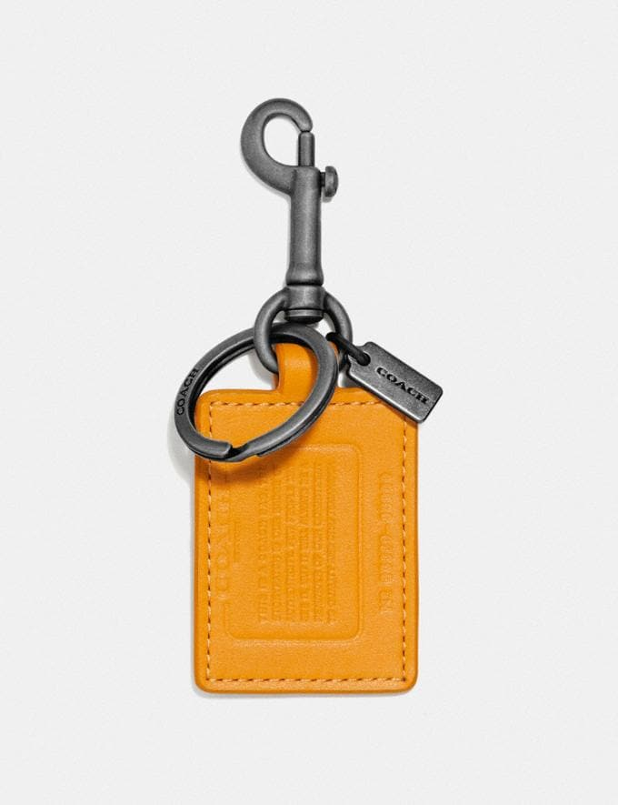 Coach Storypatch Key Fob Pollen/Pacific Men Accessories Key Rings