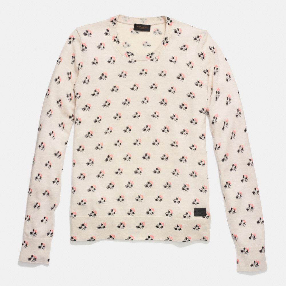 Bramble Rose Merino Crewneck Sweater