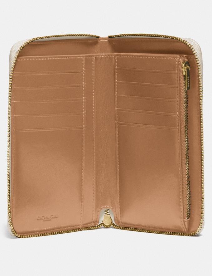 Coach Medium Zip Around Wallet With Apple Print Brass/Chalk Multi New Women's New Arrivals Wallets & Wristlets Alternate View 1