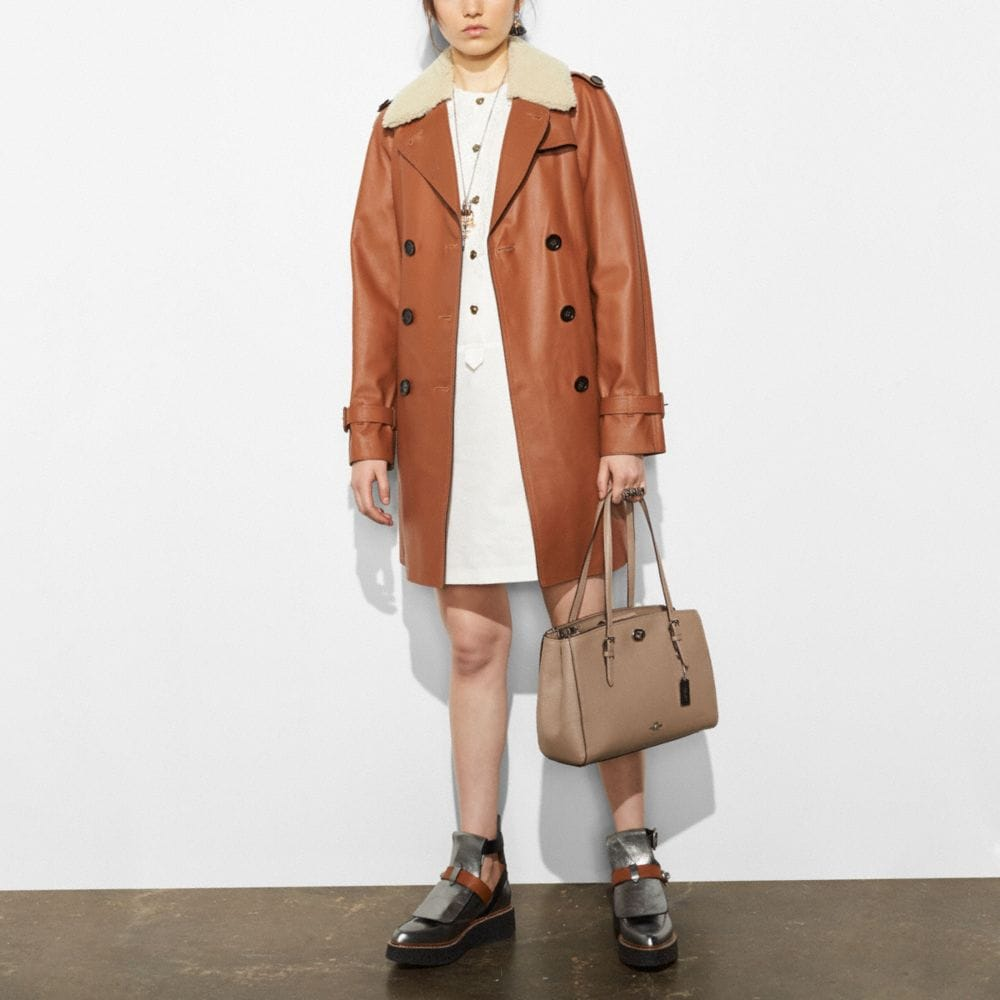 ICON LEATHER TRENCH