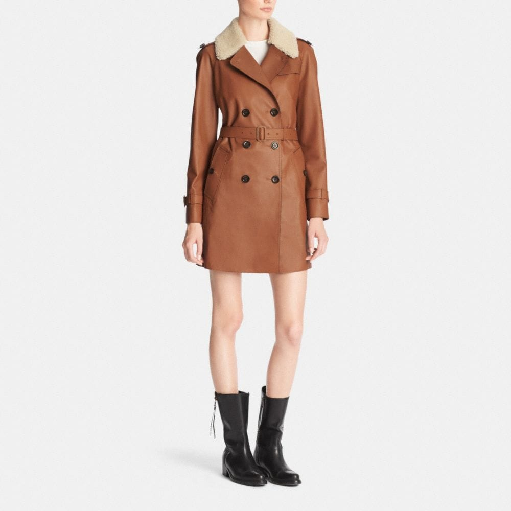 Icon Leather Trench - Alternate View M