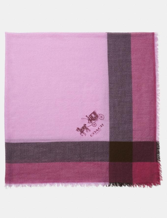 Coach Windowpane Challis Marshmallow Women Accessories Scarves