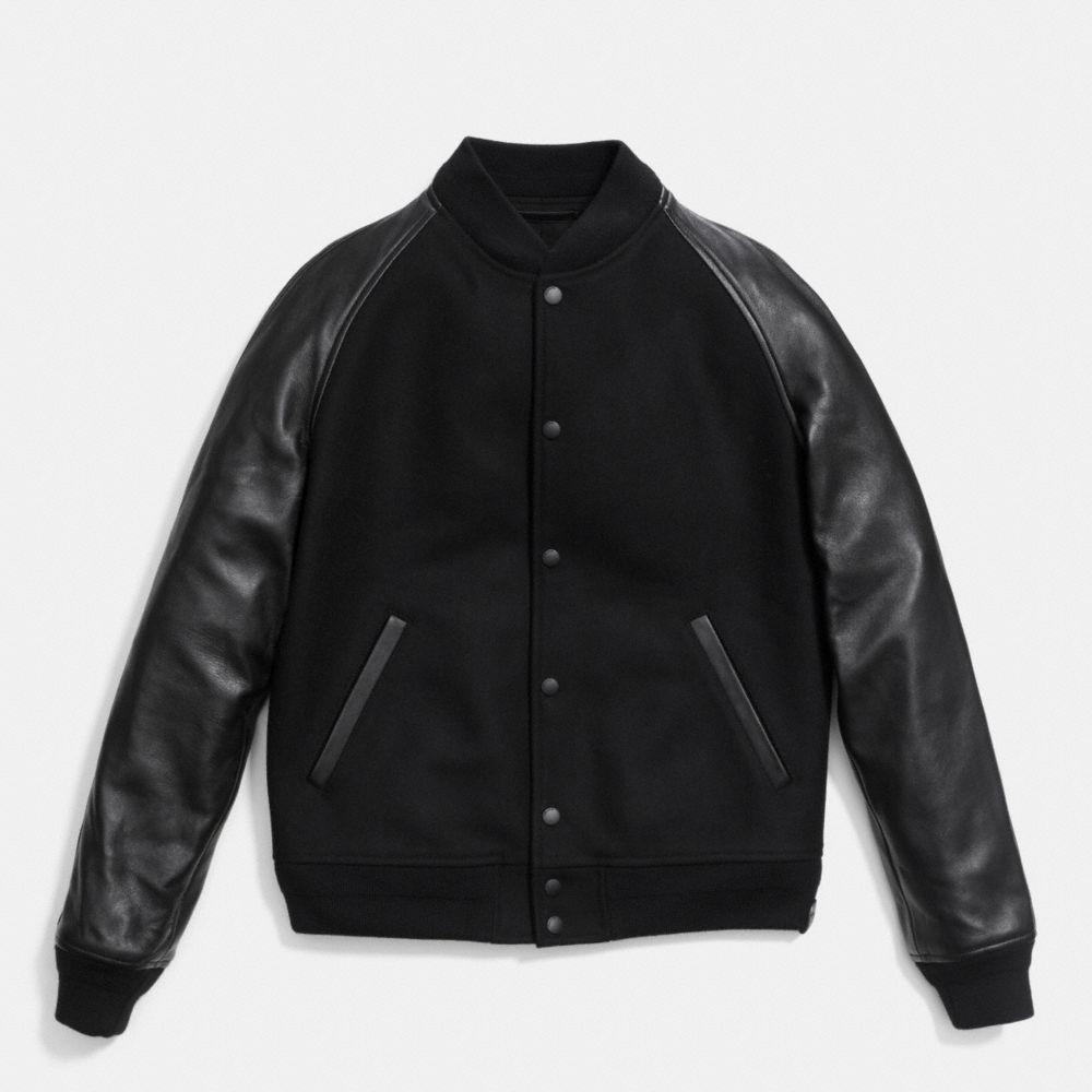 Coach Wool Leather Baseball Jacket