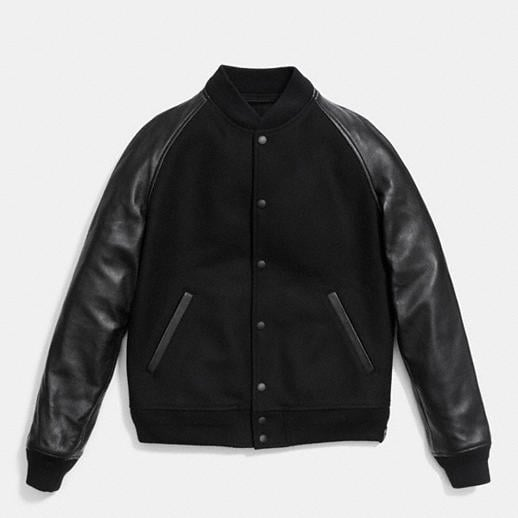 COACH Mens Coats | Wool Leather Baseball Jacket