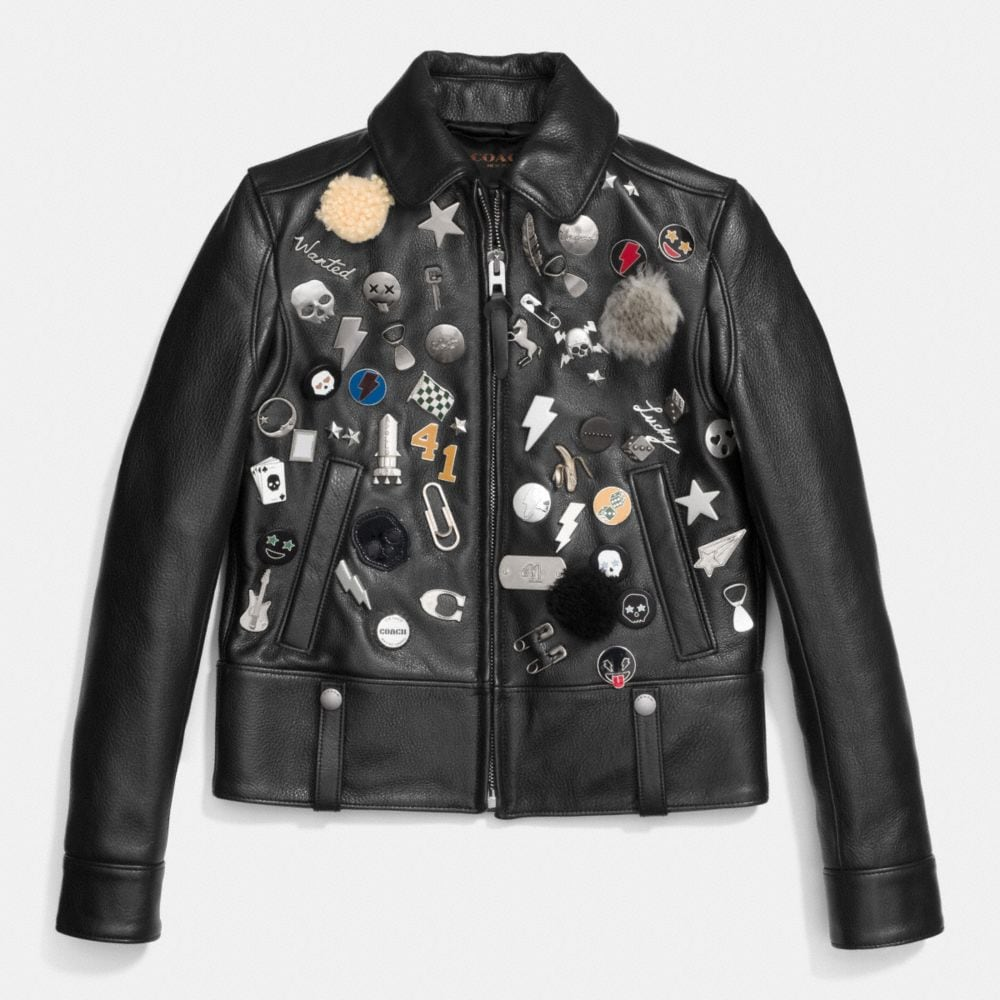 EMBELLISHED RACER JACKET