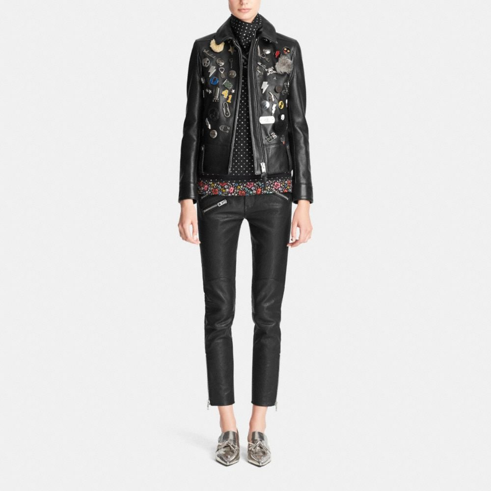 Embellished Racer Jacket - Alternate View M