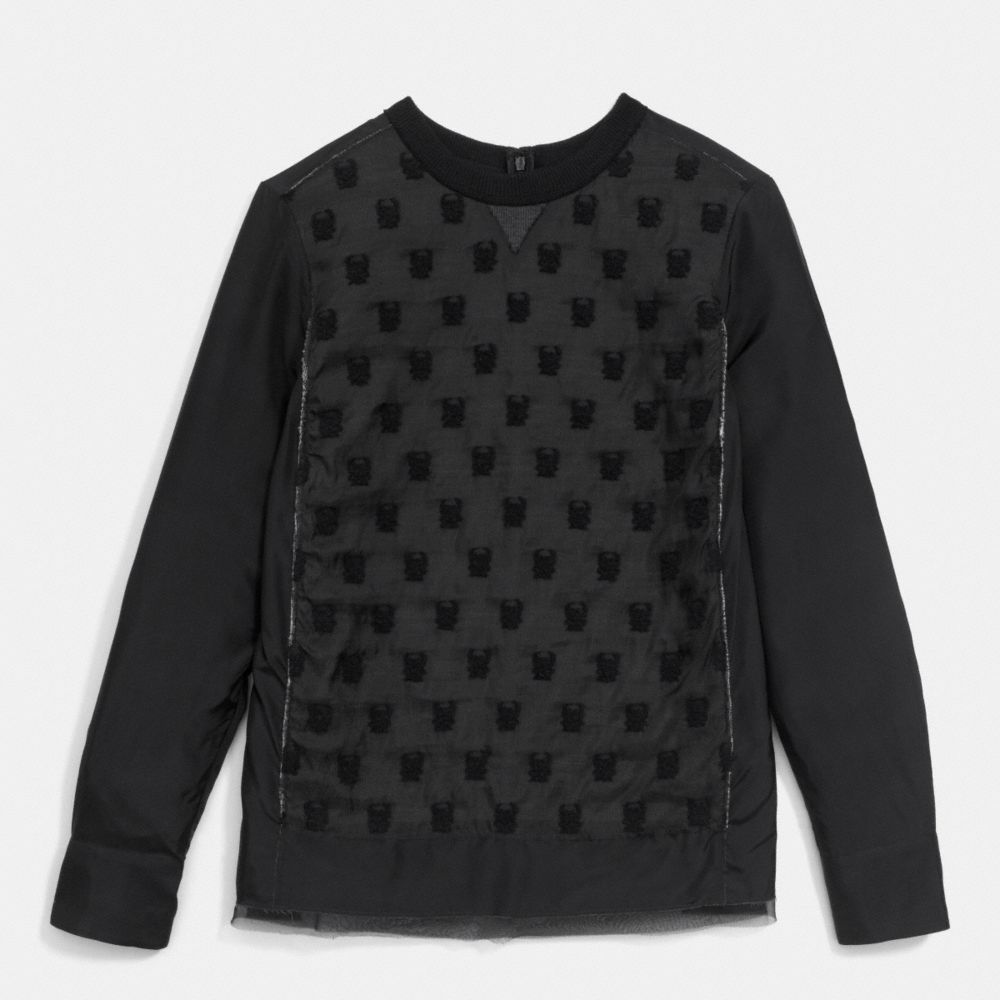 JERSEY FRONT SHIRT WITH CREWNECK
