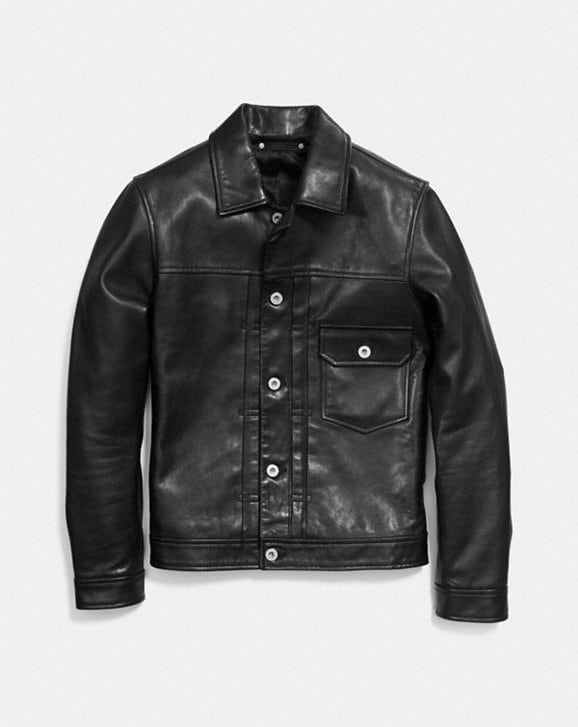 a107faab8d1 COACH  Leather Jean Jacket