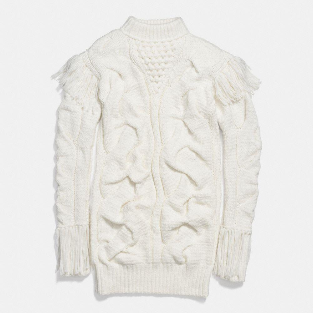 PATCHWORK ARAN DRESS