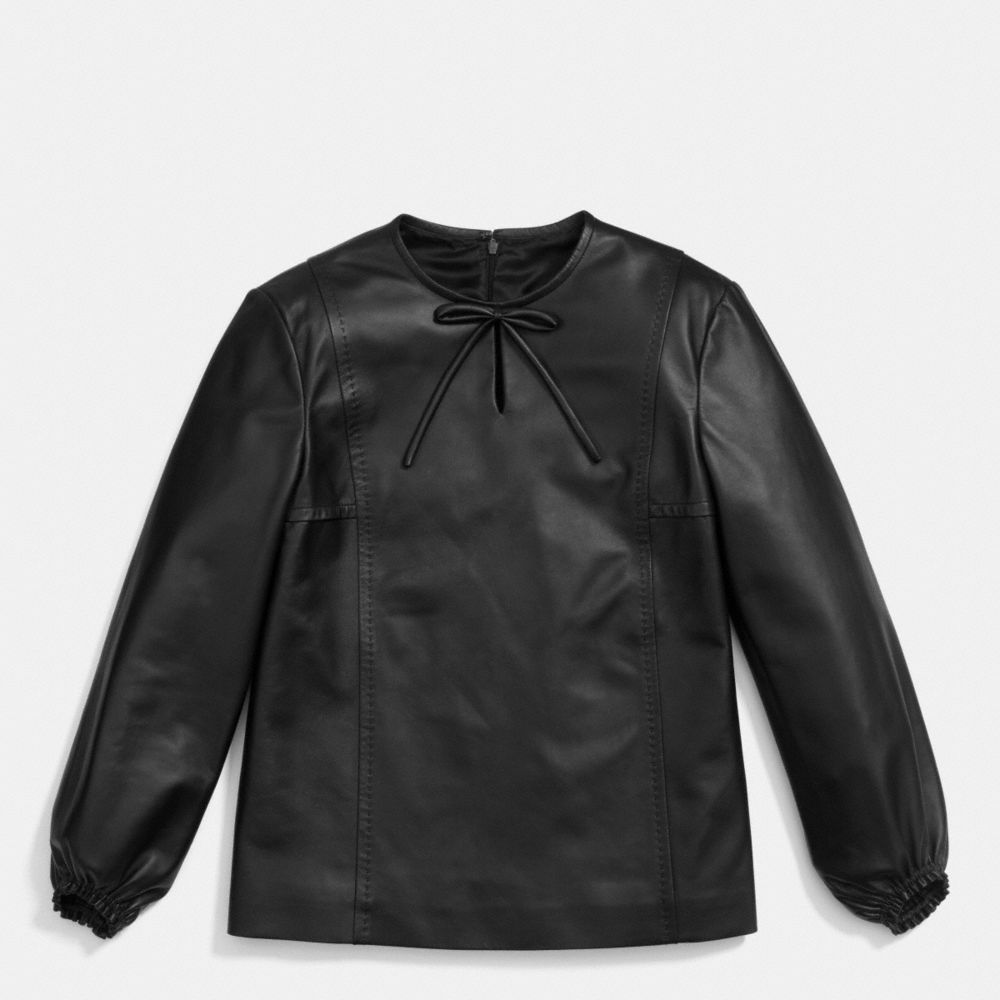 BOW LEATHER TOP
