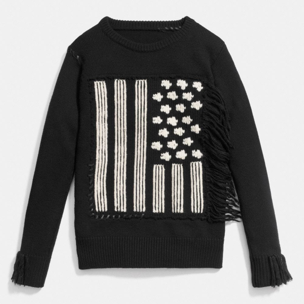 FLAG INTARSIA SWEATER