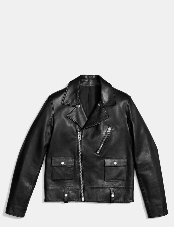 Coach Leather Motorcycle Jacket Black  Alternate View 1