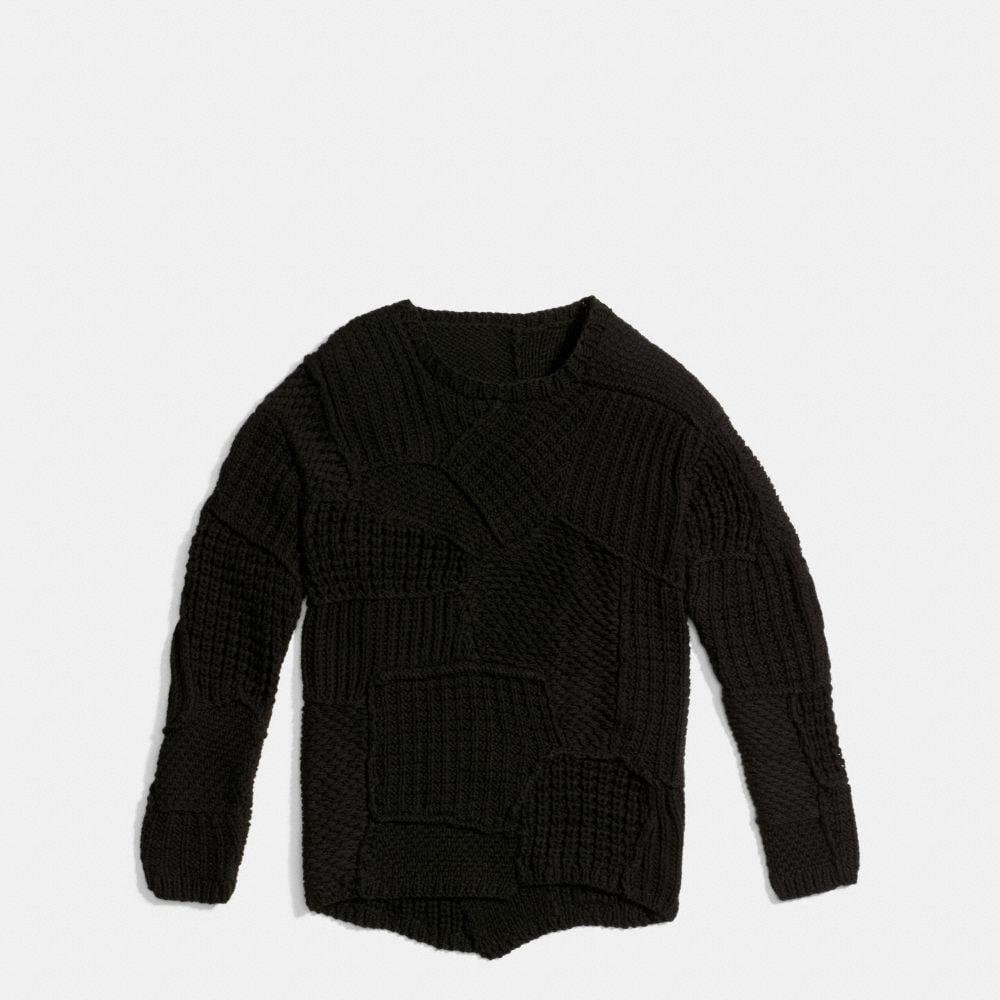 Patchwork Crewneck Sweater - Alternate View A1