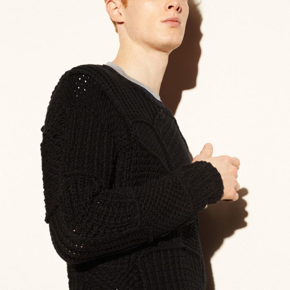 Patchwork Crewneck Sweater - Autres affichages M3