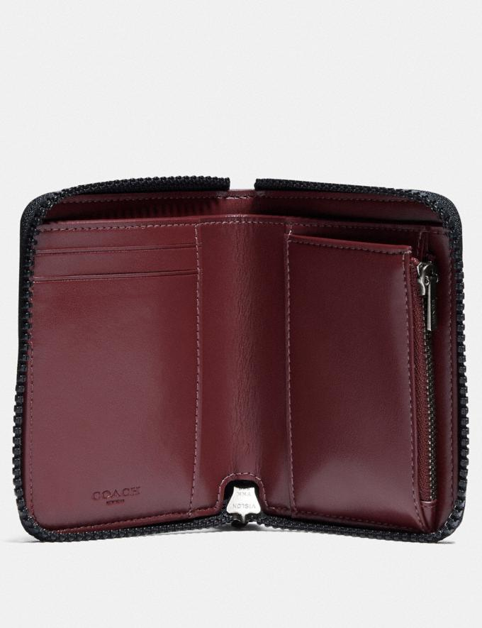 Coach Small Zip Around Wallet With Horse and Carriage Print and Heart Pewter/Black Oxblood Gifts For Her Under $100 Alternate View 1
