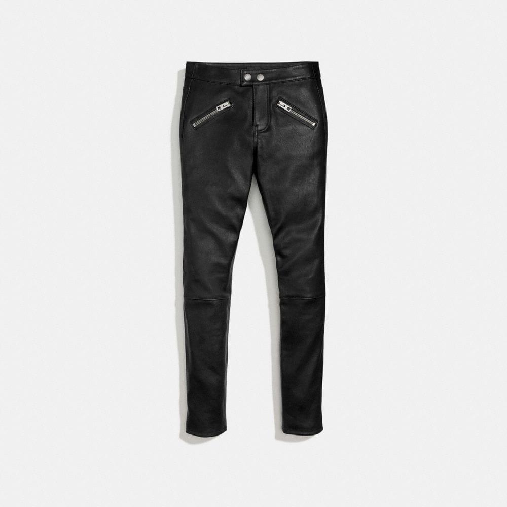 Coach Zip Pocket Leather Pant
