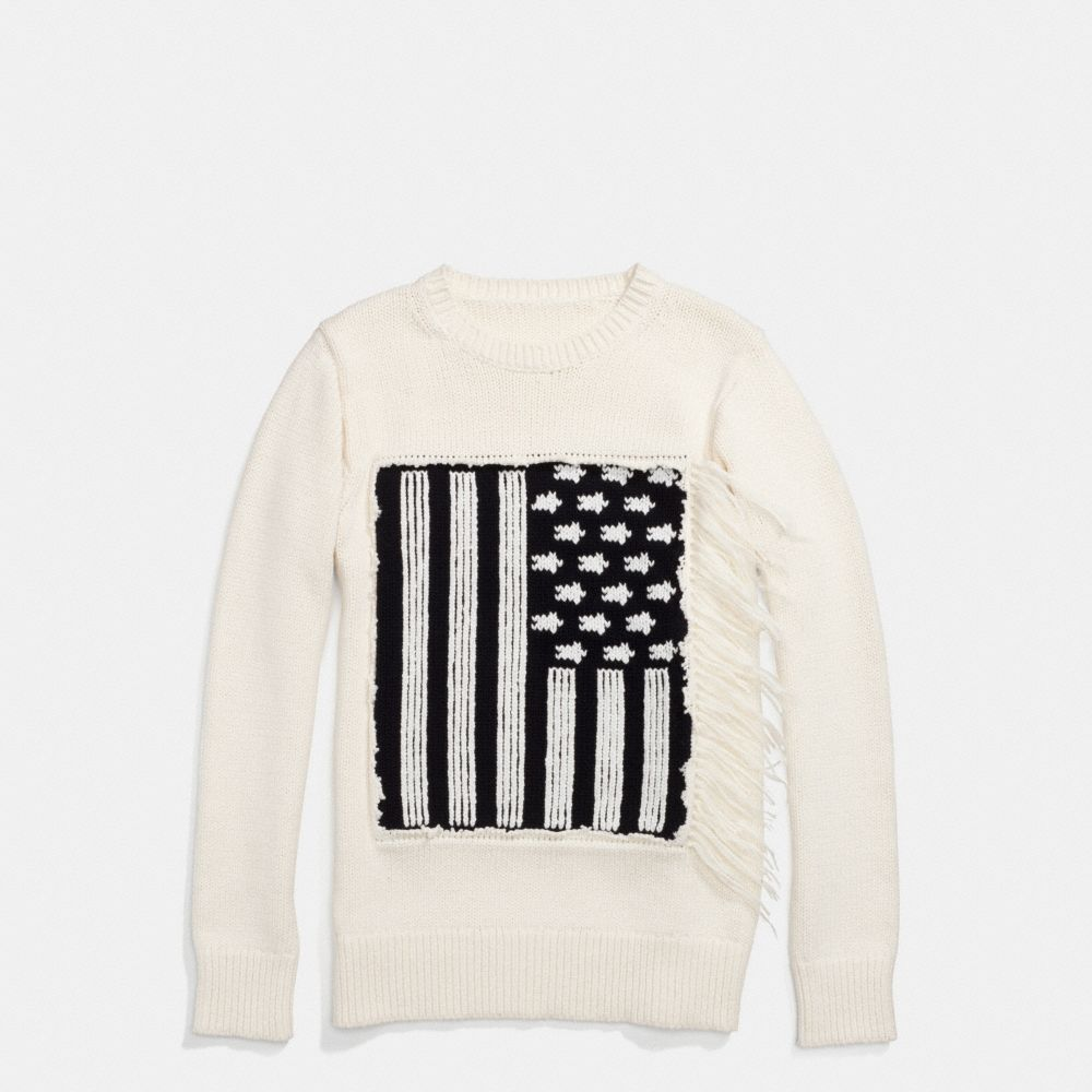 COTTON FLAG INTARSIA SWEATER